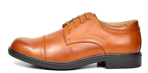 Bruno Marc Men's Downing-01 Brown Leather Lined Dress Oxfords Shoes Size 15 M US