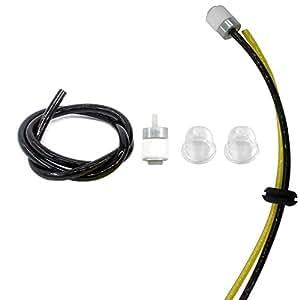 Aisen Filtro de combustible línea primer bombilla para Cub Cadet CC2000CC3000MTD Troy-Bilt 2079R TB2000TB3000String Trimmer