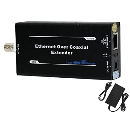 HDView Ethernet & Power Over Coax Adapter Converter, EoC PoC, BNC & RJ45 Jacks