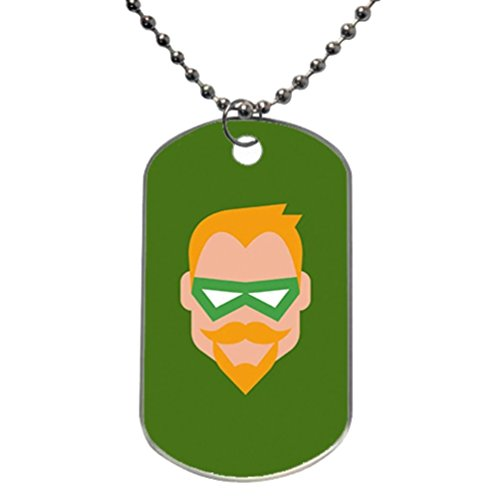 Green Arrow Icon DIY Pet ID Tag Custom for Dog Cat Personalized From Aluminum by (Icon Dog Tag Necklace)
