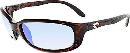 Costa Del Mar Brine Polarized Sunglasses Tortoise/ Blue Mirror 400G