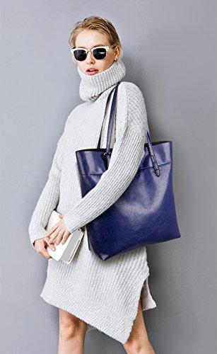 new wild capacity handbags Sapphire large amp;Doris Brown leather Nicole temperament oil fashionable women purse Hw5xq