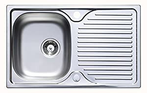 astracast parallel 800 x 500mm stainless steel compact kitchen sink wastes. Interior Design Ideas. Home Design Ideas