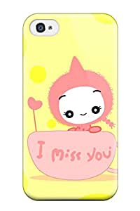 Iphone 4/4s Hard Back With Bumper Silicone Gel Tpu Case Cover Zen 1