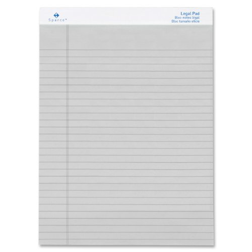 S.P. Richards Company Colored Pads, Legal Rule, 50 Sheets, 8-1/2 x 11-3/4 Inches, Gray (SPR01075)