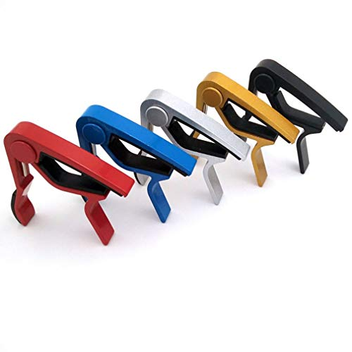 Majoxin Compact Size Aluminum Alloy Guitar Tuner Clamp Professional Key Trigger Capo for Acoustic Electric Musical Instruments