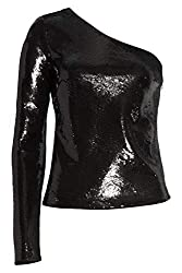 Sequin One-Shoulder Top