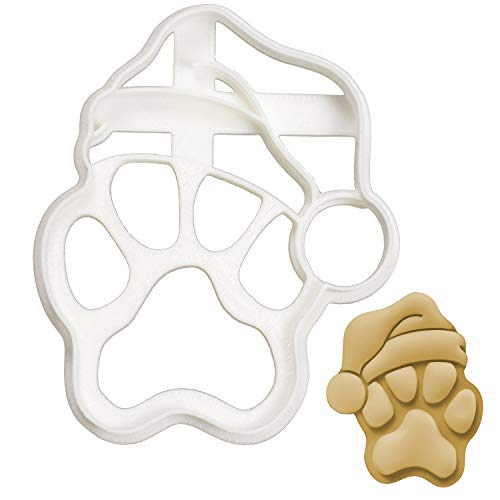 Realistic Santa Paw cookie cutter, 1 piece - Bakerlogy