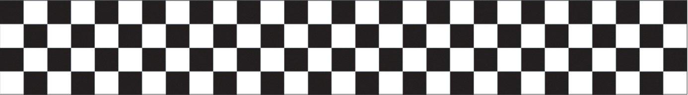 Creative Converting 12 Count Crepe Streamer, 30', Black/White Check - 071581