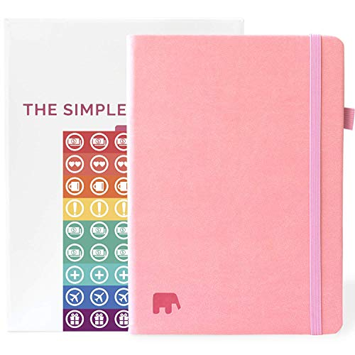 ner - Best Daily & Weekly Agenda to Achieve Your Goals & Live Happier - Gratitude Journal, Mindmap & Vision Board - Undated - Lasts 1 Year w/Bonus eBooks & Stickers (Pink) ()