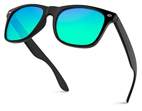 WearMe Pro - Square Retro Classic Mirrored Lens Women and Men Style Frame ()