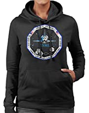 NASA STS 73 Columbia Mission Badge Distressed Women's Hooded Sweatshirt