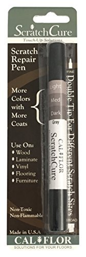 Cal-Flor PE49401CF ScratchCure 3 Shade Double Tipped Repair Pen for Use on Wood, Laminate, Vinyl, Flooring & Furniture, Gray by Cal-Flor