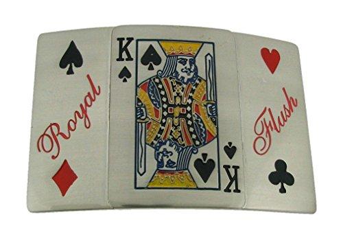 Flush Cards Las Vegas Us Style Belt Buckle Silver Metal Fashion Tattoo Gothic - Gothic Flush