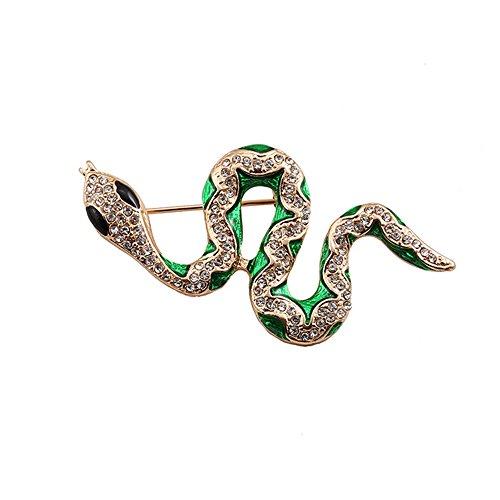 J Meng Animal Crystal Snake Shape Brooch - Vintage Party Gift Women (Snake Brooch)