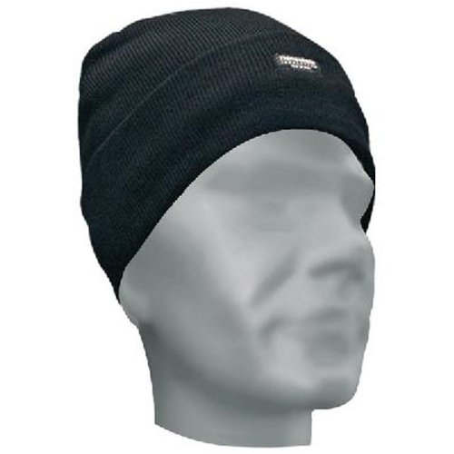 Bob Dale 90-0-612B Knitted Acrylic Toque with C-100 Thinsulate, Size 1, Black (Pack of 5)