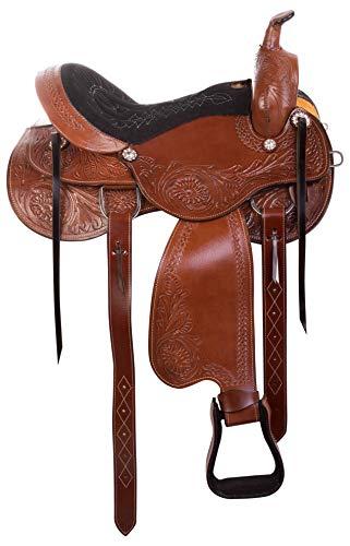 AceRugs Western Parade Show Pleasure Trail Horse Leather Saddle TACK Set 15  16 17 18 (16)