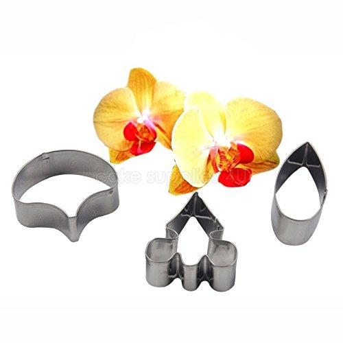 (New Phalaenopsis Moth orchid matal cutter set 3pcs,fondant flower decor petal mold,cupcake dessert decorating tool)