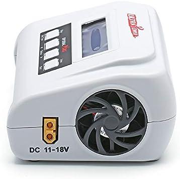 NiMh 1-15S RCTecnic Cargador de Bater/ía LiPo 1-6S Incluye Cable alimentaci/ón Fuente de Alimentacion 100W Refrigerada Inteligente con Detector de Carga y Comprobador de Bater/ías UP-100AC-Plus