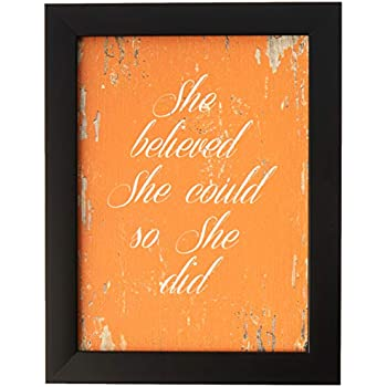 SpotColorArt She She Believe She Could So She Did Framed Canvas Art, 7