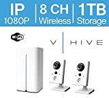 LaView V-Hive 1080P HD Wireless IP 8 Channel Surveillance System with Pre-Installed 1TB HDD and Two WiFi Indoor 1080P IP Security Cameras