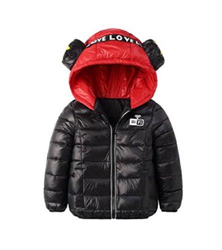 Baqijian Children Winter Jackets Cotton-Padded Jacket Thicken Hooded Kids Down Coats and Jackets Teenage Boys Parka Girls 3 8 10 Years Black 8]()