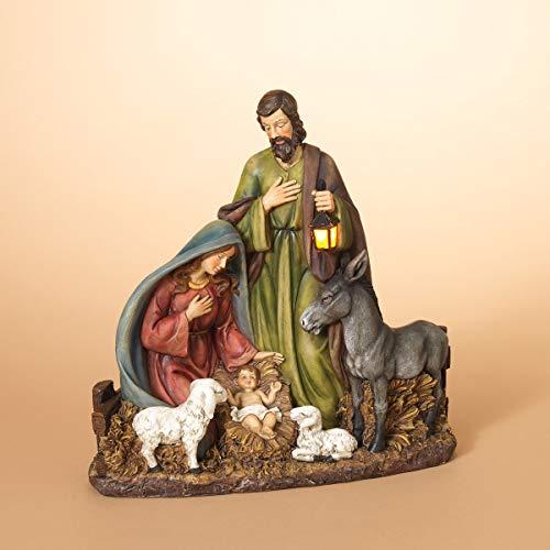 Lighted White Outdoor Nativity Scene in US - 9
