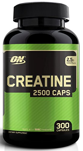 Optimum Nutrition Creatine Powder - Optimum Nutrition Micronized Creatine Monohydrate Capsules, Keto Friendly, 2500mg, 300 Capsules