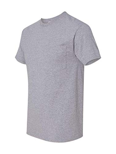 Jerzees Pocket - Jerzees 5.6 oz., 50/50 Heavyweight Blend Pocket T-Shirt, Large, OXFORD