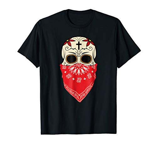 Speak No Evil Sugar Skull T-Shirt Halloween Day Of The Dead -