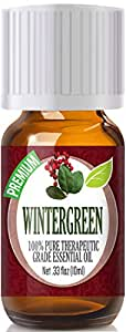 Wintergreen Essential Oil - 100% Pure Therapeutic Grade Wintergreen Oil - 10ml