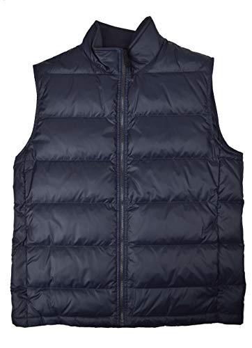 Brooks Brothers Mens 100% Nylon Full Zip Puffer Vest Jacket Navy Blue ()