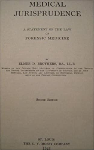 Medical jurisprudence:: A statement of the law of forensic medicine,