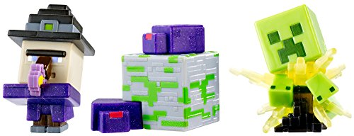 Mattel Minecraft Mini Figure (3 Pack) - Potion Witch Exploding Creeper Endermites