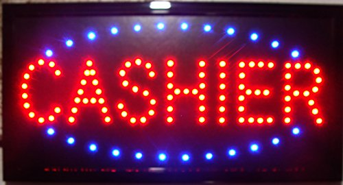 (CHENXI Led Cashier Business Signs 48 X 25 CM Indoor Ultra Bright Business Neon Sign of Led (48 X 25 CM, cashier) )