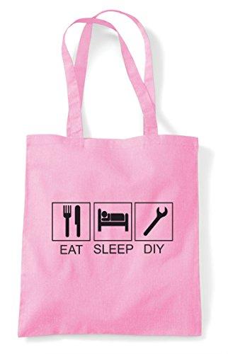 Bag Light Eat Hobby Tiles Tote Sleep Pink Funny Diy Shopper Activity nAA0zrI