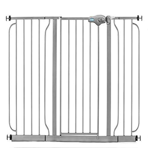 4 Pack of Pressure Mount Kit and 4 Pack of Wall Mount Kit Black Includes 4-Inch and 12-Inch Extension Kit Regalo Easy Step 49-Inch Extra Wide Baby Gate