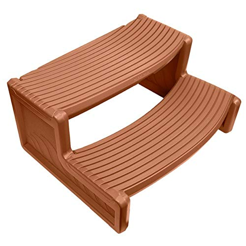 (IVA Resin Handi-Step for Spa and Hot Tubs Redwood)