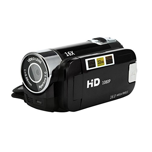 HP95 2.7' LCD Up to 16 Million Pixels Video Camcorder Handheld HD 1080P Digital Camera 32G 16X Digital Zoom (Digital Camera 2.7' Lcd)