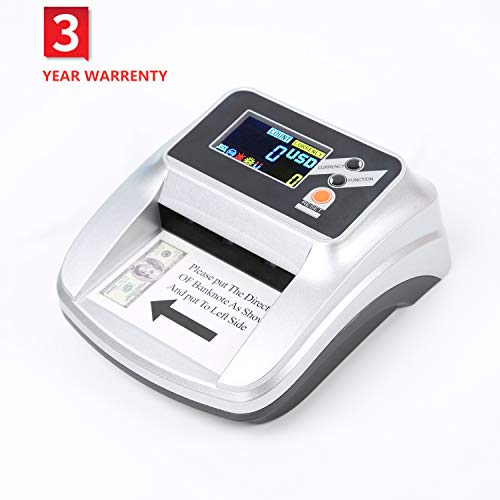 MASMARS Counterfeit Money Checker Bill Detector Machine 2 in 1 with 5 Full Detection and Long-Term Service