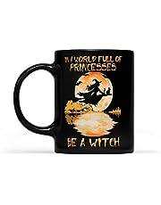 i en värld full av prinsessor var en häxa halloween blod måne – svart mugg