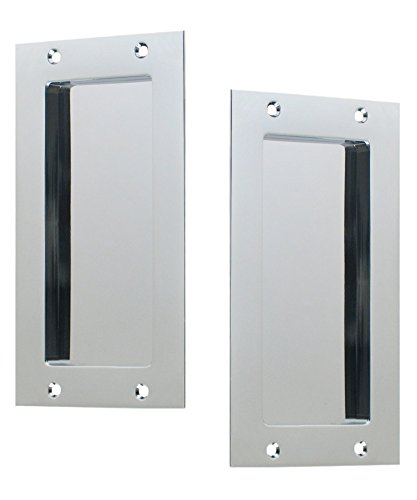 Anacapa by FPL - Solid Brass Modern Pocket Door Hardware in Passage - Hall/Closet Function - Polished Chrome