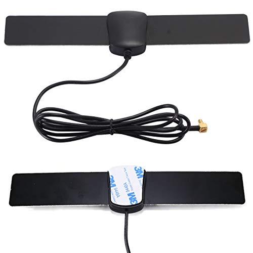 DAB+ con cavo antenna da 3 m e adattatore SMB per autoradio DAB Antenna attiva per parabrezza