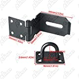 Alise MS9KB-4 Right Angle Padlock Hasp Security