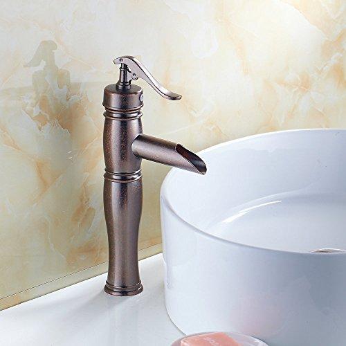HiendureTM Centerset Solid Brass Bathroom Sink Faucet,antique Copper  Finished