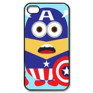 Performance Designed Products Minions&Captain America Custom Cases for iPhone 4S (TPU)