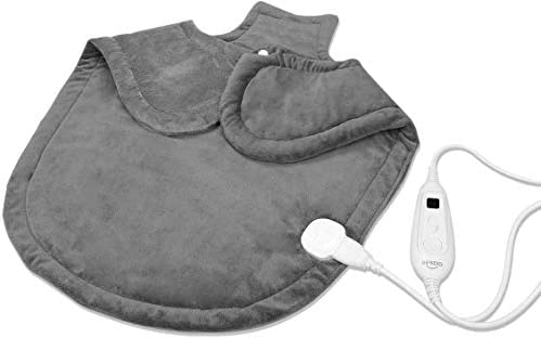 XLarge(25 x 26) Heating Pad for Neck and Shoulders Electric Heating Pad for Back Pain and Cramps ReliefMoist and Dry Heat Therapy6 Heat LevelsAuto-OffFast Soothe Muscle Cramps and Sorenes