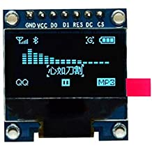 TOOGOO 0.96 inch SPI Serial 128X64 OLED LCD Display SSD1306 for 51 STM32 Arduino Font Color Yellow and Blue