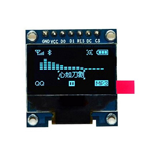 Price comparison product image Toogoo 0.96 inch SPI Serial 128X64 OLED LCD Display SSD1306 for 51 STM32 Arduino Font Color Yellow and Blue