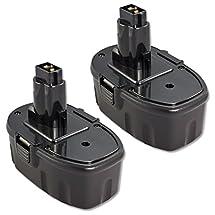 ExpertPower 2 Pack 18v 2000mAh NiCd Battery for Dewalt DC9096 DW9095 DW9096 DW9098 DE9039 DE9095 DE9096 DE9098 DC9099